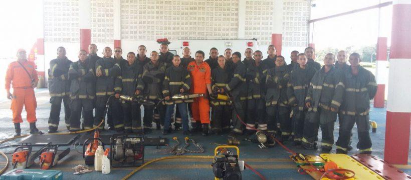 9º Pelotão do Curso de Formação de Praças participa de simulado de acidente aeronáutico