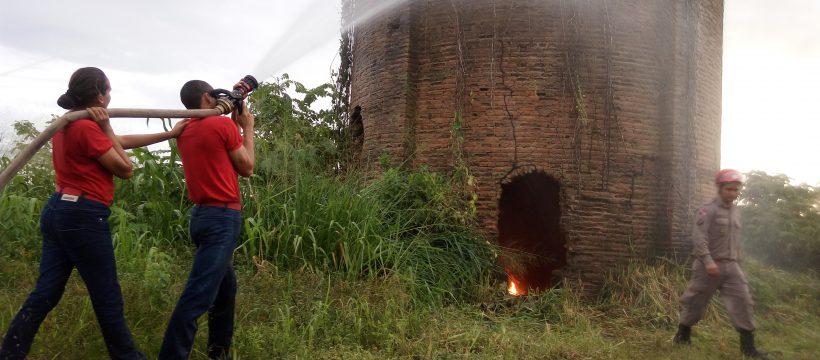 6º Pelotão CFP intensifica exercícios operacionais de combate a incêndio