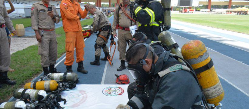 Primeiro dia das Olimpíadas Bombeiro Militar é realizado no estádio Mangueirão