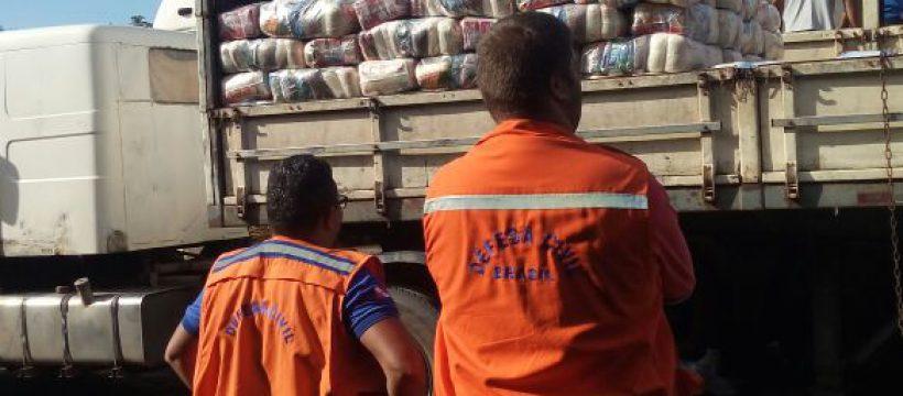 Defesa Civil entrega kits de assistência aos municípios de Santarém, Óbidos e Medicilândia