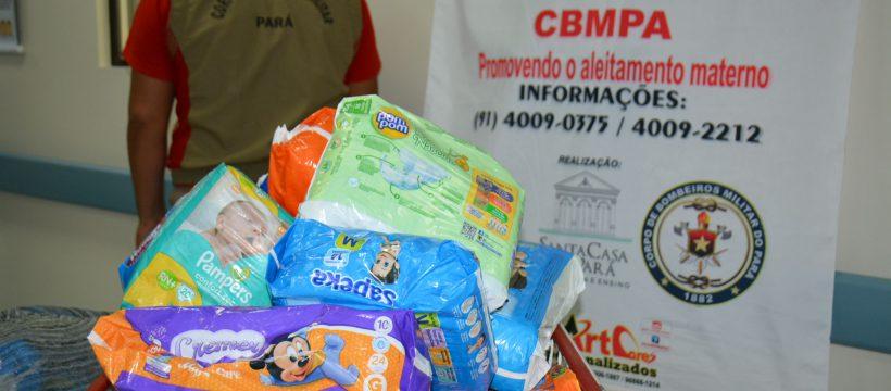 CBMPA entrega pacotes de fraldas coletados no Pedal do Fogo