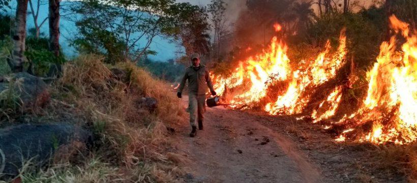 10° GBM – Redenção utiliza estratégias para combater incêndio florestal