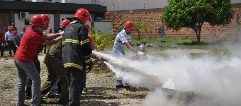 CBMPA realiza treinamento de brigada de incêndio para funcionários do TCE