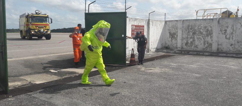 Militares da Infraero participam de Exercício Simulado e Emergência