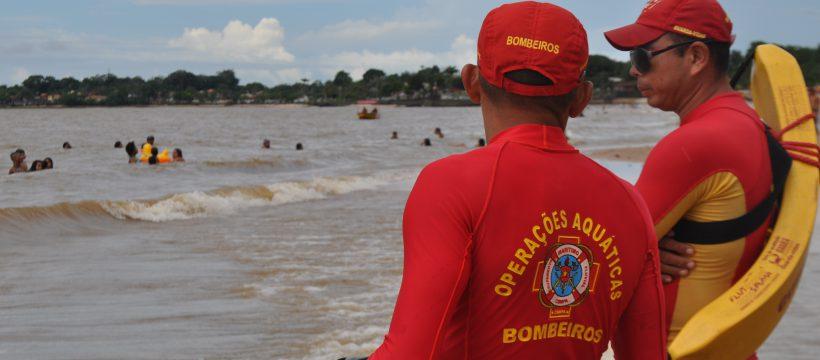 Corpo de Bombeiros registra movimentação tranquila nas praias do Estado