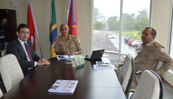 Comadante GEral recebe visita de ouvidor Estadual
