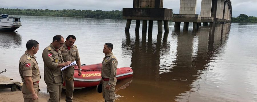 BOMBEIROS REALIZAM INSPEÇÃO TÉCNICA EM PONTE DO RIO MOJU