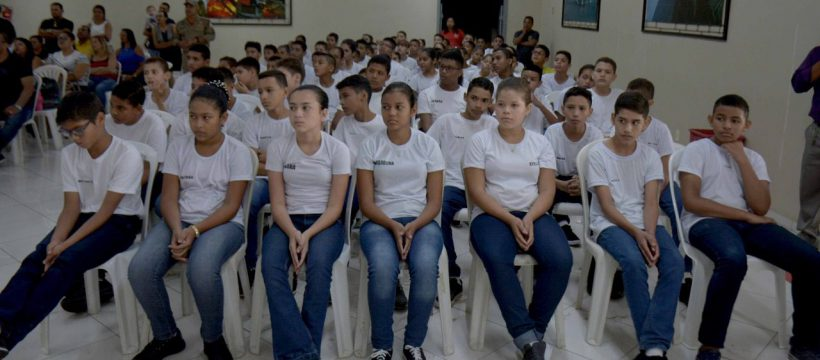 CBMPA realiza aula inaugural para novos alunos do Projeto Escola da Vida