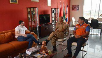 Visita do Deputado Estadual Igor Normando ao CBMPA