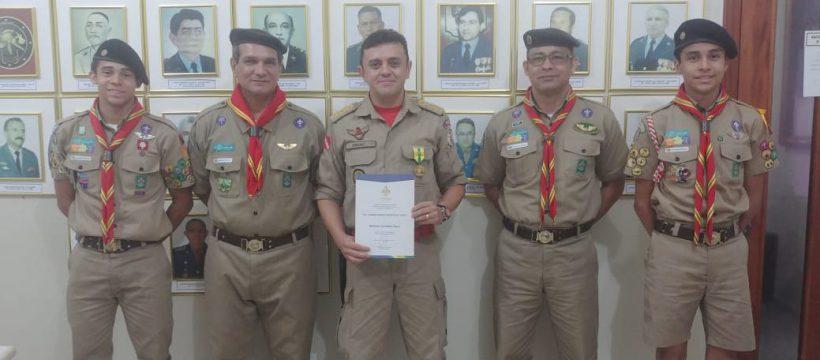 Coronel Andrei é homenageado pela União dos Escoteiros do Pará