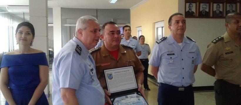 """CBMPA RECEBE O TÍTULO de """"Amigo do SEREP-BE"""" da Aeronáutica"""