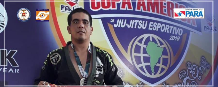 Bombeiro do 4º GBM é prata em Copa América de Jiu-Jitsu