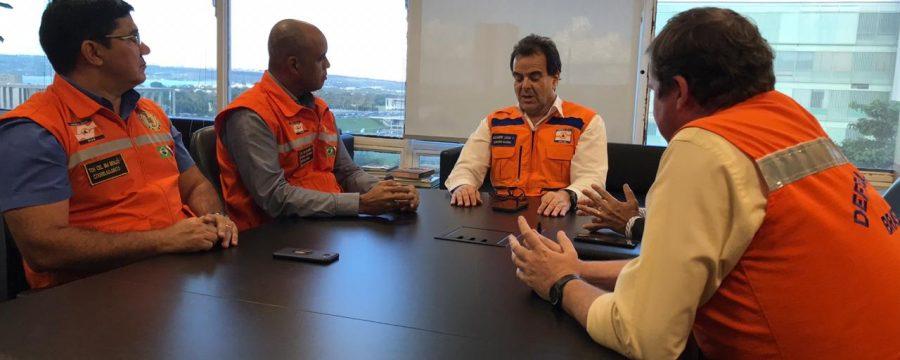 CBMPA e CEDEC PA participam de reuniões com o Secretário Nacional de Defesa Civil em Brasília-DF