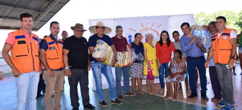 A EQUIPE DA DEFESA CIVIL ESTADUAL FAZ ENTREGA DE CESTAS NO MUNICIPIO Bom Jesus do Tocantins