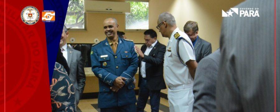 Corpo de Bombeiros no lançamento do programa Territórios pela Paz