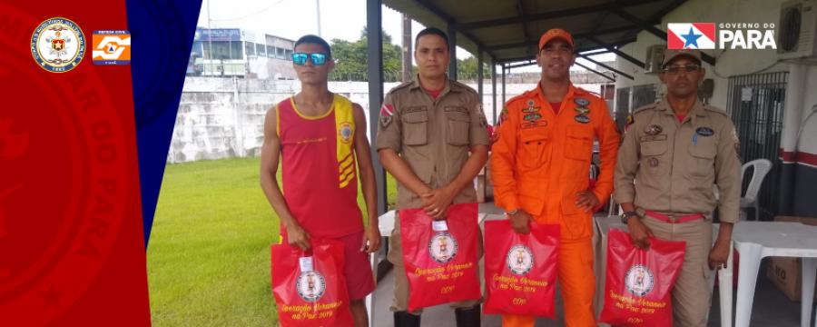 Corpo de Bombeiros Militar do Pará distribui kits para a Operação Verão 2019