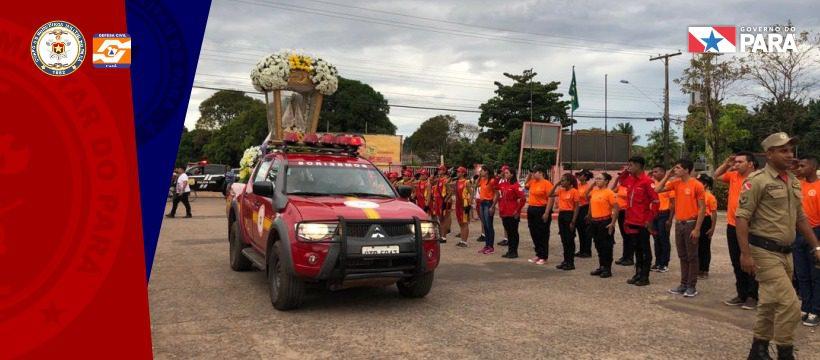 Corpo de Bombeiros de Santarém recebe visita da imagem peregrina de Nossa Senhora de Nazaré