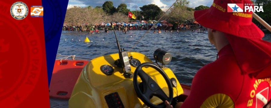 Bombeiros atuam nas praias de Santarém e Belterra durante Operação Verão