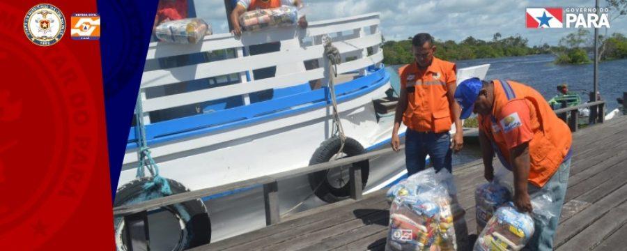 Defesa Civil entrega cestas básicas a municípios do Baixo Amazonas