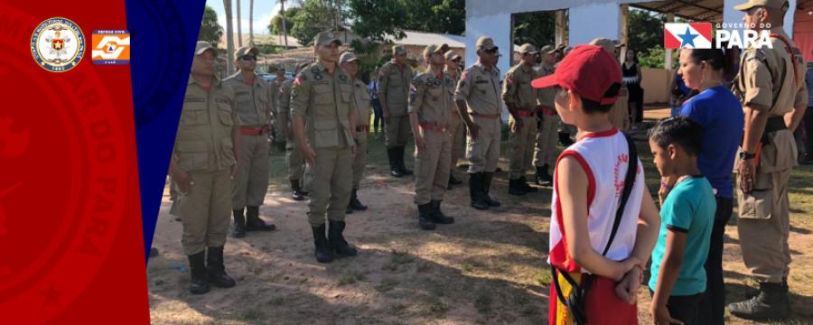 Escola Pérola do Maicá homenageia Bombeiros Militares em Santarém