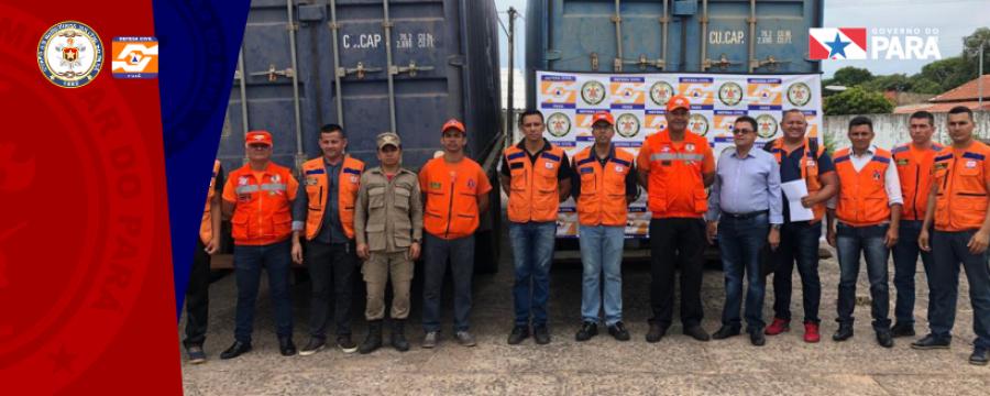 DEFESA CIVIL DO ESTADO ENTREGA CESTAS BÁSICAS PARA MUNICÍPIOS DO BAIXO AMAZONAS EM SITUAÇÃO DE EMERGÊNCIA