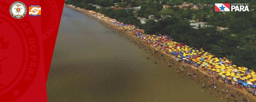 Praias no distrito de Outeiro lotam neste 3° final de semana de julho