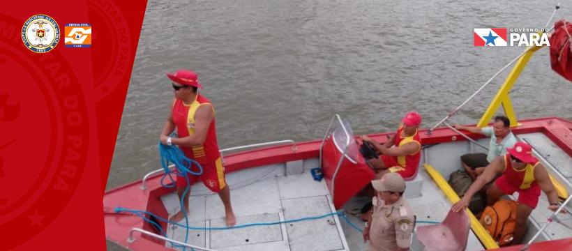 Acidente marítimo com balsas no Marajó
