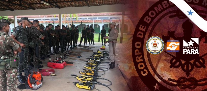 Corpo de Bombeiros treina militares do Exército de Altamira para combater incêndios