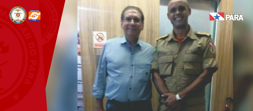 Comandante do Corpo de Bombeiros Militar do Pará participa de reunião com o Senador Jader Barbalho