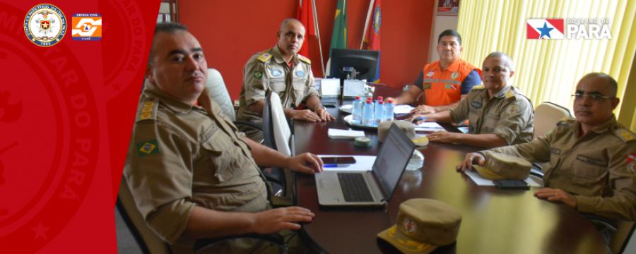 Corpo de Bombeiros faz reunião estratégica com o Exército Brasileiro para o combate às queimadas