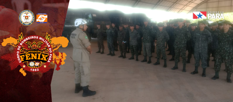 Corpo de Bombeiros treina militares de Tucuruí para combate a incêndios florestais