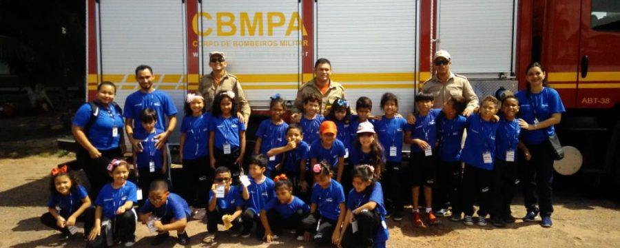 Território pela Paz: Corpo de Bombeiros visita comunidade no Icuí-Guajará