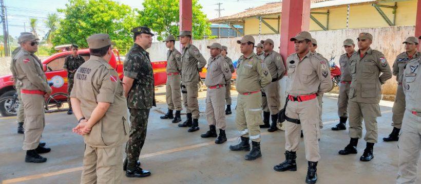 Corpo de Bombeiros recebe o comandante do Batalhão de Altamira