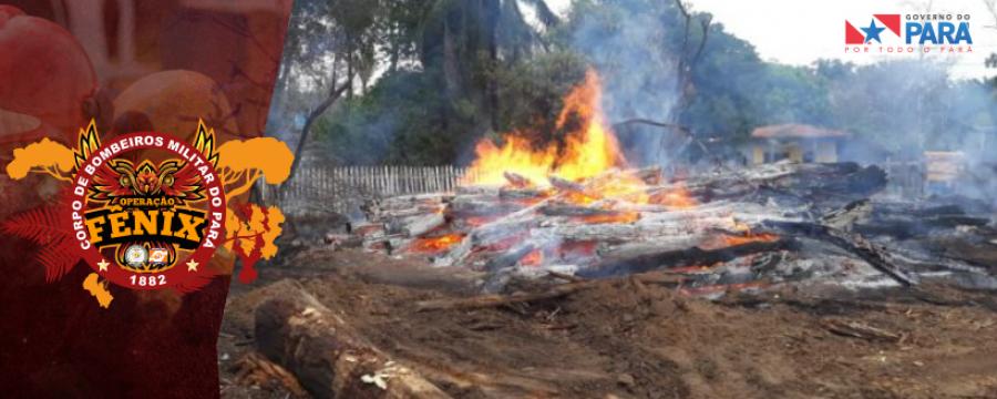 Corpo de Bombeiros combate focos de Incêndio em Parauapebas