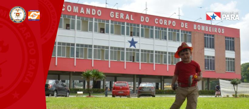 Criança realiza sonho de conhecer o corpo de Bombeiros Militar