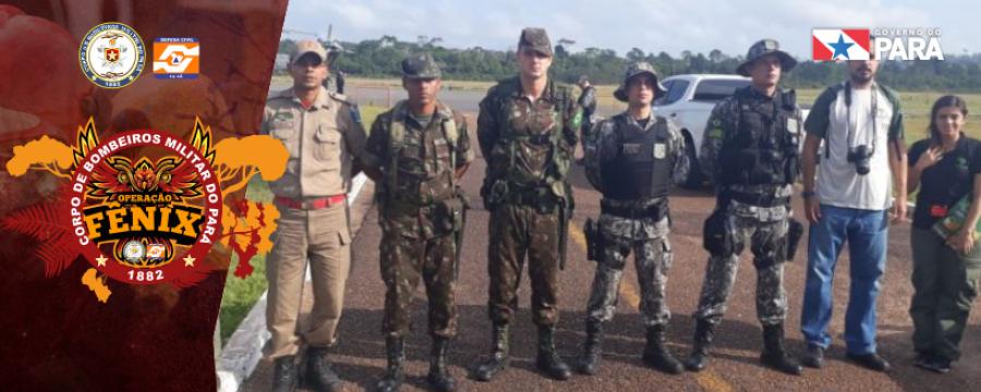 Corpo de Bombeiros sobrevoa terras indígenas