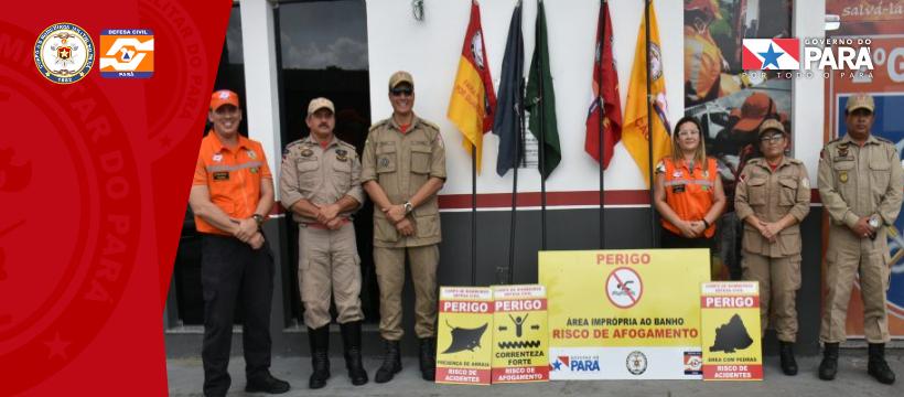 Corpo de Bombeiros e Defesa Civil fazem apresentação de sinalização de praias