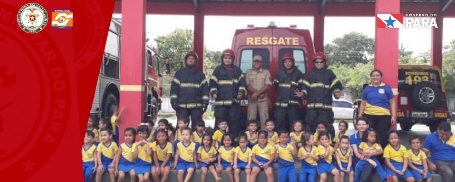 Bombeiros e Escolas fazem integração educacional