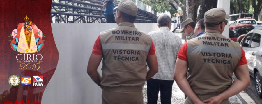 Círio de Nazaré 2019: Corpo de Bombeiros realiza primeira vistoria nas arquibancadas