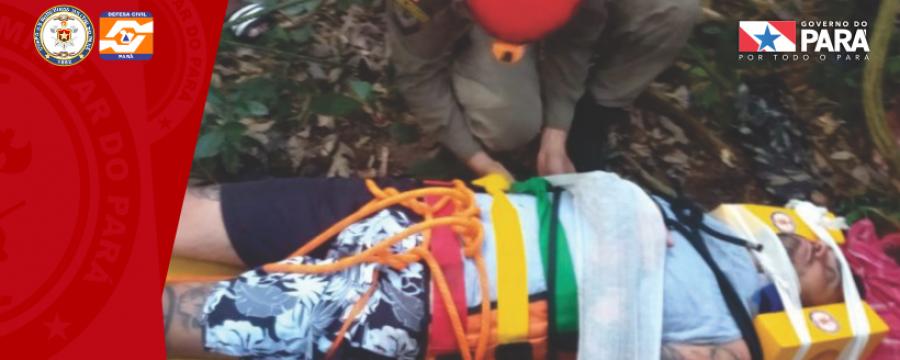Bombeiros montam operação para resgatar turista em Belterra