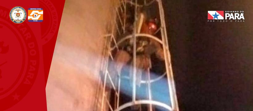 CORPO DE BOMBEIROS FAZ RESGATE EM FLORESTA DO ARAGUAIA