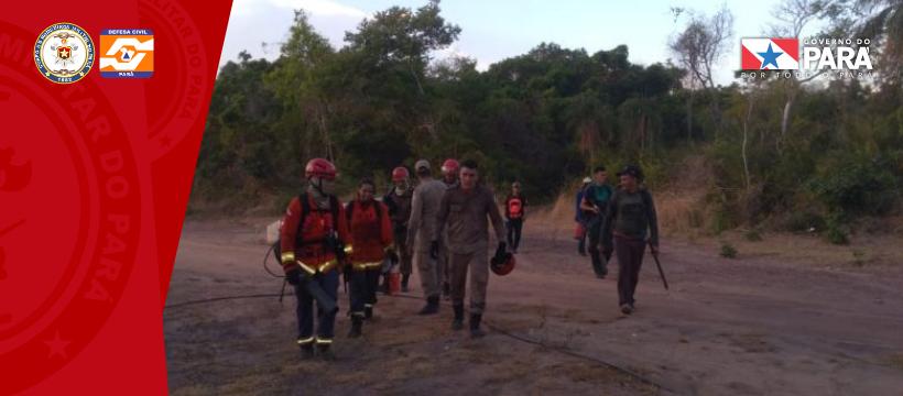 Corpo de bombeiros ATUA NO INCÊNDIO DE MONTE ALEGRE