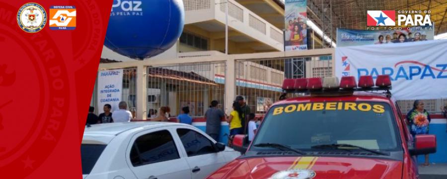 CORPO DE BOMBEIROS REALIZA TRABALHOS DE PREVENÇÃO EM AÇÕES DO TERPAZ NO GUAMÁ E TERRA FIRME