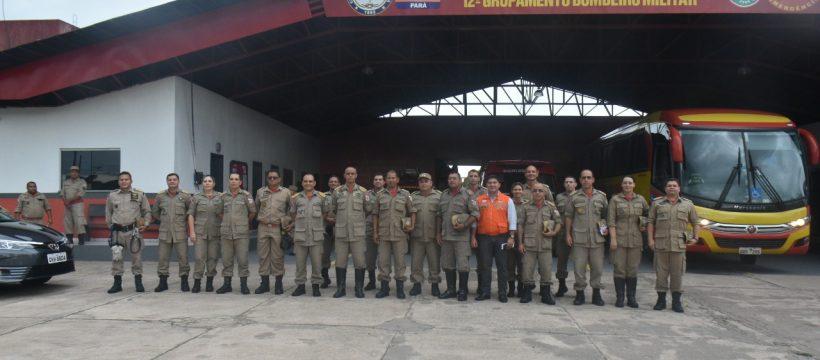 Estado Maior Geral realiza vista no 12° Grupamento Bombeiro Militar de Santa Izabel