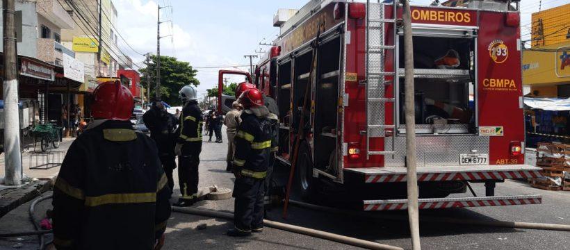 Incêndio em casa de bolos no bairro do Guamá