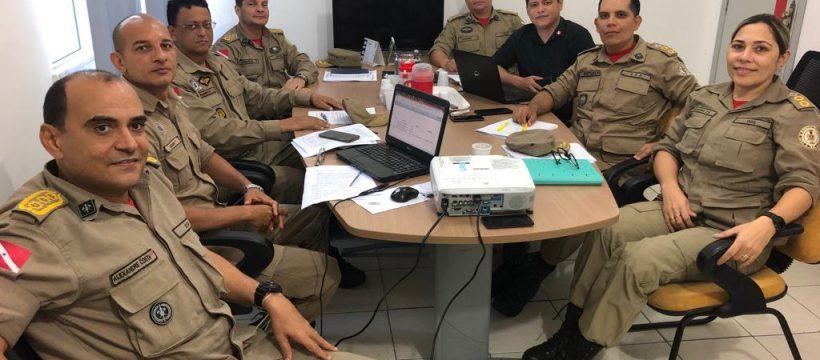 Reunião com a Secretaria de Segurança Pública define estratégias para o CBMPA