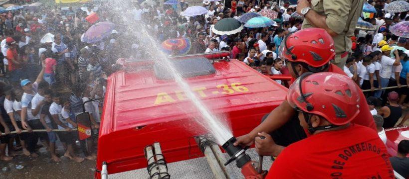 corpo de bombeiros realiza prevenção no círio de são miguel do guamá