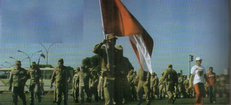 Coronel Nonato Comandante Geral conduz a tropa.