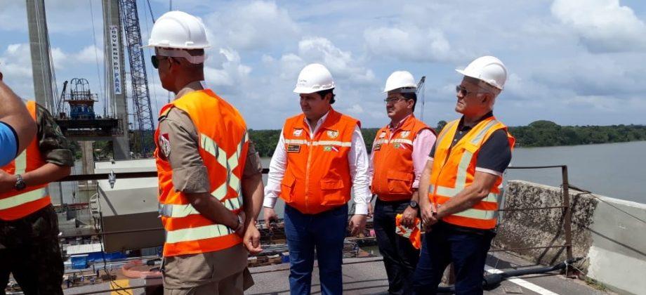 A COORDENARIA ESTADUAL DE DEFESA CIVIL ESTIVERAM PRESENTE NA RETA FINAL DA OBRA DE RECONSTRUÇÃO DA PONTE RIO MOJU.