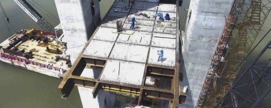 Corpo de Bombeiros realiza vistoria nas obras da Ponte Rio Moju